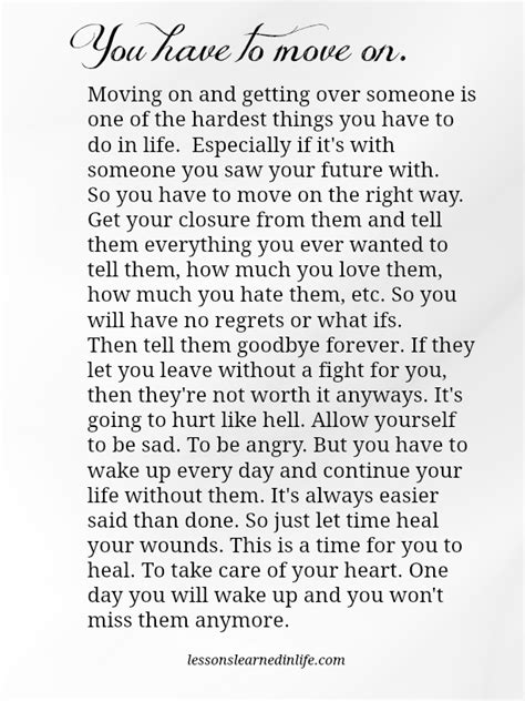 Lessons Learned In Lifeyou Have To Move On Lessons