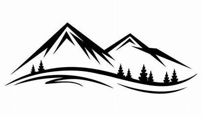 Mountain Silhouette Clip Clipart Lake Vector Range