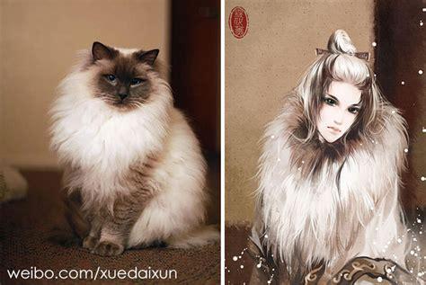 artist transforms cats  dogs   social media