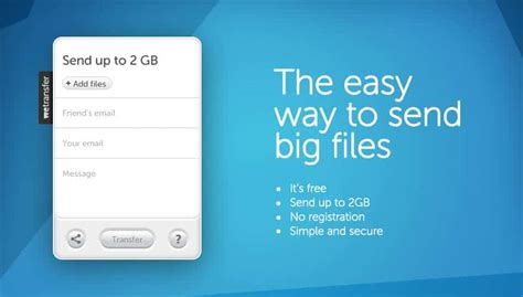 How To Send Large Files Via Email With Wetransfer