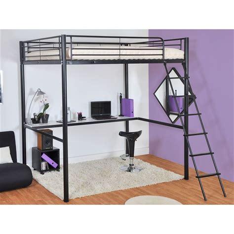 lit mezzanine 140 avec bureau lit mezzanine avec tablette bureau couchage achat