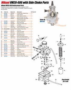 Mikuni Vm26 Parts Guide