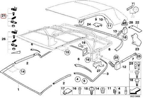 genuine bmw e46 convertible roof top repair kit rope