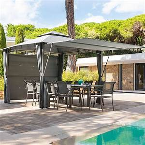 tonnelle de terrasse top terrasse couverte en alu With beautiful tonnelle jardin fer forge 6 tonnelle pergola toiture de terrasse leroy merlin