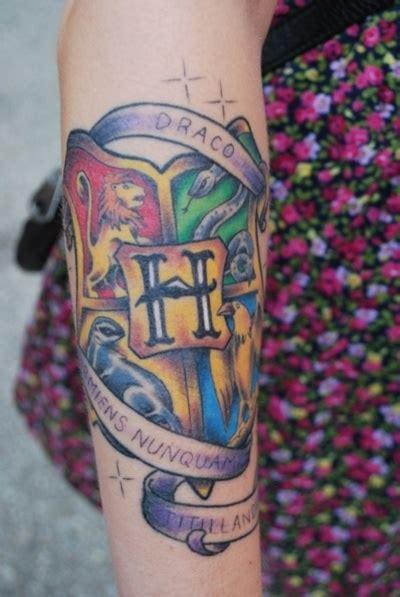 Harry Potter Hogwarts Crest Tattoo
