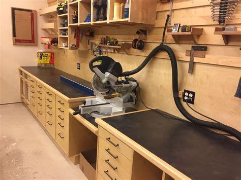 kapex miter  station woodworking shop layout