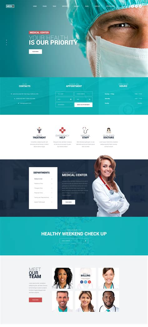medix medical clinic html template modern web