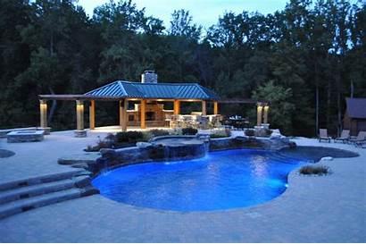 Pool Freeform Pavilion Lighting Kitchen Landscape Dc