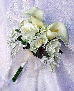Ivory Or White CALLA LILY Lilies Roses Bridal Bride