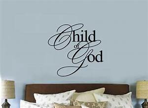 child of god christian religious vinyl decal sticker wall With vinyl lettering wall decals