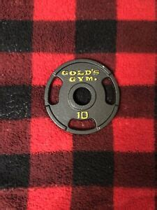 vintage  lb golds gym  olympic weight plates lb total ebay