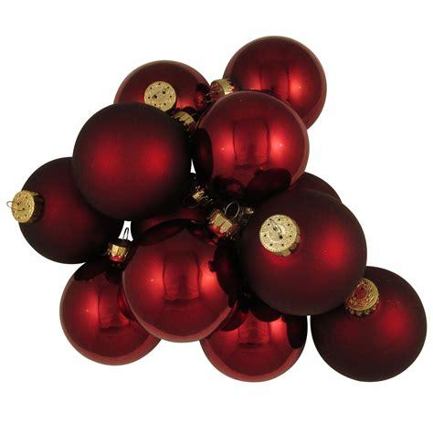 christmas  krebs mm burgundy deco glass christmas