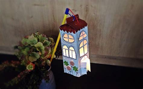 laterne aus milchkarton basteln handmade kultur
