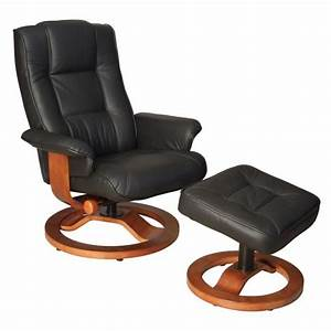 fauteuil de relaxation cuir noir relaxo achat vente With cuir center fauteuil relax