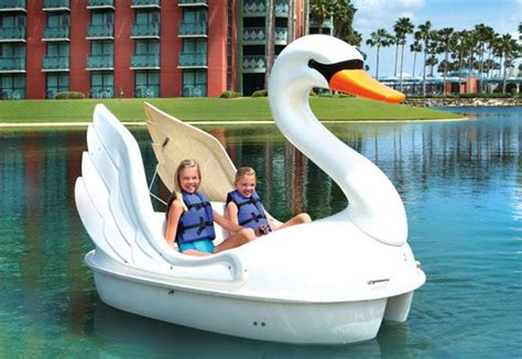 Swan Boats Closed by Swan Paddle Boat On Crescent Lake At The Walt Disney World