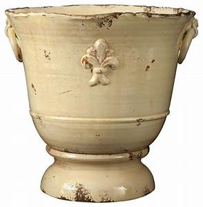 Vietri, Rustic, Garden, Extra, Large, Cream, Giglio, Planter, -, Indoor, Pots, And, Planters, -, Chicago