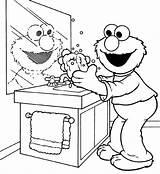Washing Coloring Hands Hand Pages Handwashing Elmo Wash Germs Printable Drawing Fun Doing Soap Machine Sheet Kid Germ Print Getdrawings sketch template