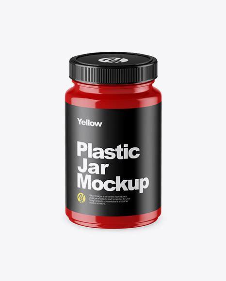 Universal cosmetic glass jar mockup designed in high resolution. Glossy Plastic Jar Mockup - Glossy Plastic Protein Jar ...