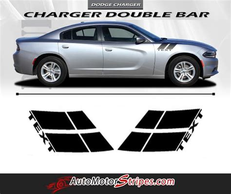 dodge charger double bar  hood hash marks
