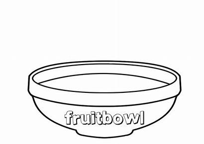 Fruit Bowl Basket Esl Template Printable Empty