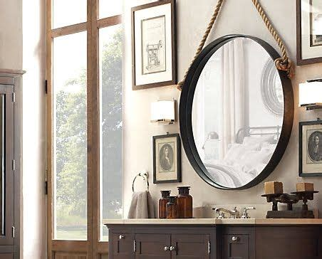 Hanging Mirror In Bathroom by Decorating Ideas With Rope Mirrors