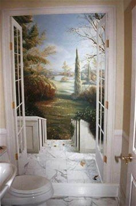 trompe l oeil toilette 17 best ideas about garden mural on painted wall murals and fence painting