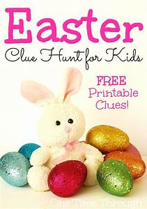 Easter Bunny Clue Hunt + Free Printable Clues   Pinterest ...