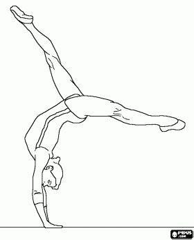 gymnastics coloring pages gymnastics pinterest gymnastics