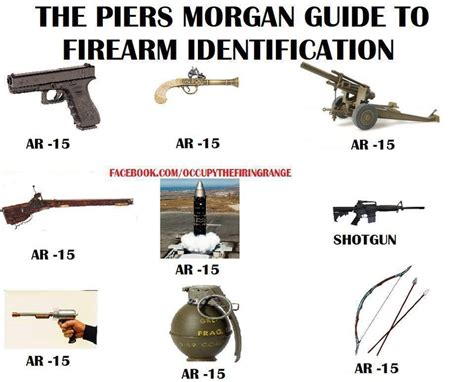 Guide To Memes - the piers morgan guide to firearm identification political humor