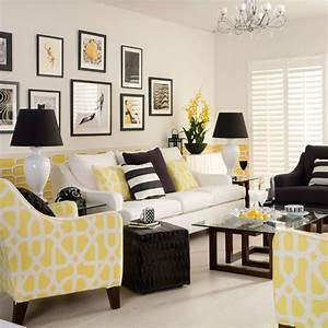 yellow monochrome living room decorating with monochrome With gray and yellow living rooms
