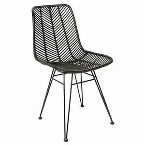Chaise Rotin Noir : chaise cosy rotin noir lm1237 achat vente chaise salle manger sur ~ Teatrodelosmanantiales.com Idées de Décoration