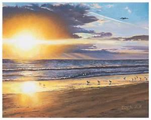 Eric Soller Fine Art - Melbourne Sunrise, oil painting