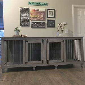 Best 25 dog crate furniture ideas on pinterest puppy for Xl dog crate furniture