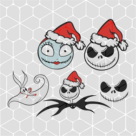 5 out of 5 stars. christmas-jack-skellington-characters-bundle-svg-files-for ...