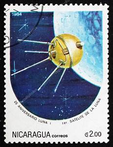 Postage stamp Nicaragua 1984 Luna 1, Space Program – Stock ...