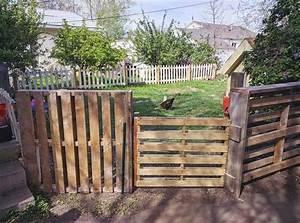 Cloture Pas Cher : cloture de jardin en palette cloture all e de jardin ~ Melissatoandfro.com Idées de Décoration
