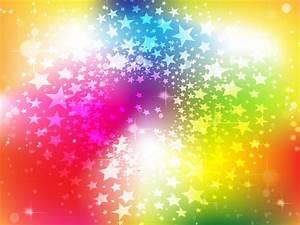 Free Background Graphics | Bright Rainbow Stars Background ...
