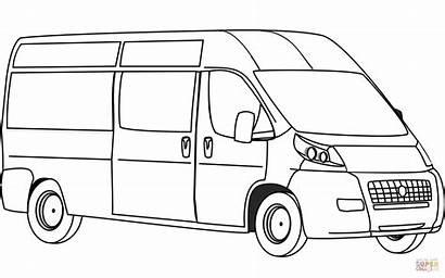 Coloring Printable Vans Colorear Colorare Camper Bus