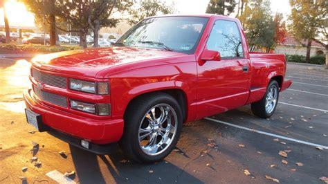 Red Chevy Silverado Sport Stepside Obs