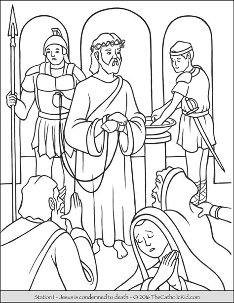 stations of the cross coloring pages stations of the cross coloring pages