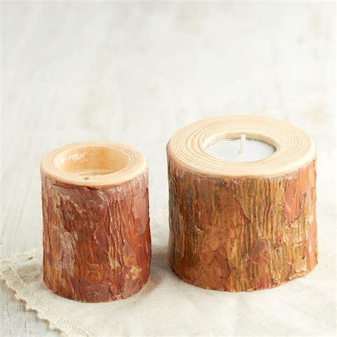 natural wood tea light candle holder on sale primitive