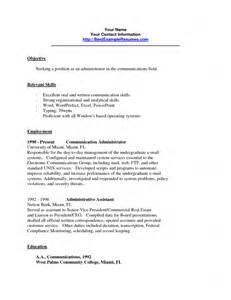 communication skills for resume communication skills on resume sle free resume templates