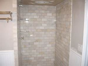 Marble subway tile shower flickr photo sharing for Marble subway tile bathroom