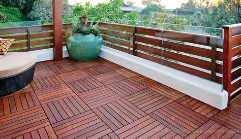 5 Level Ipe Deck with Fence & Deck Tiles   Del Mar, California
