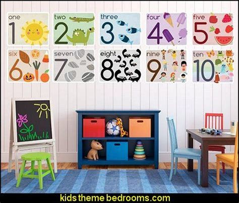 kid numbers in bedroom Decorating theme bedrooms