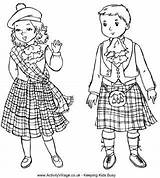Coloring Pages Colouring Children Tartan Scottish Scotland St Around Andrew Crafts Burns Kilt Embroidery Andrews Adult Robert Christmas Night Sheets sketch template
