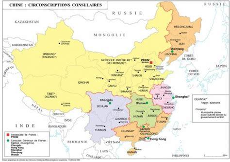sichuan cuisine photo carte des circonscriptions consulaires françaises en chine photos chine informations