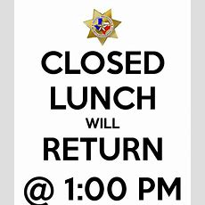 Closed Lunch Will Return @ 100 Pm Poster  Td  Keep Calmomatic
