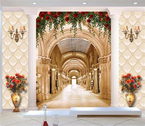 custom photo  wallpaper european hall long corridor