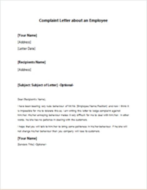 complaint letter   employee writelettercom